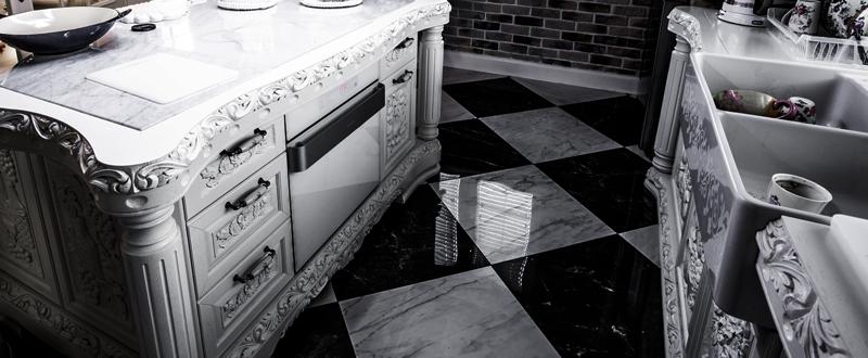 Białe kuchnie rzeźbione